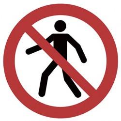Für Fußgänger verboten ISO...