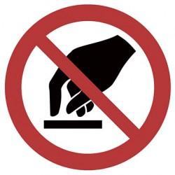 Berühren verboten ISO 7010...