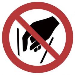Hineinfassen verboten ISO...